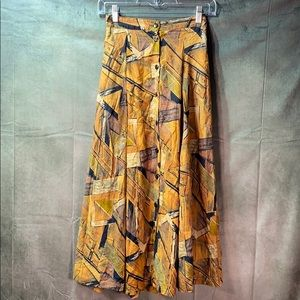 90s vintage button front skirt